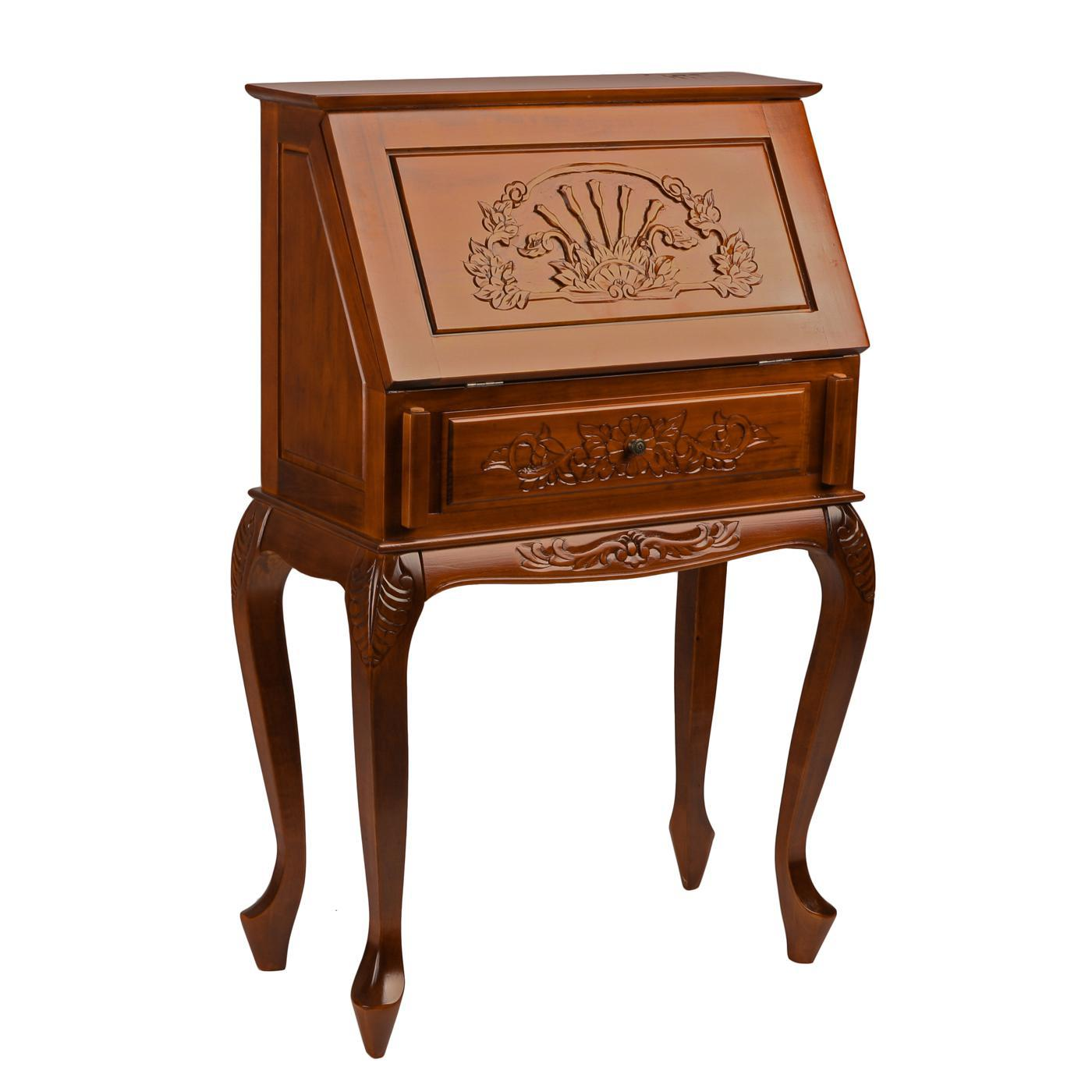 Picture of: Tall Secretary Desk With Hutch