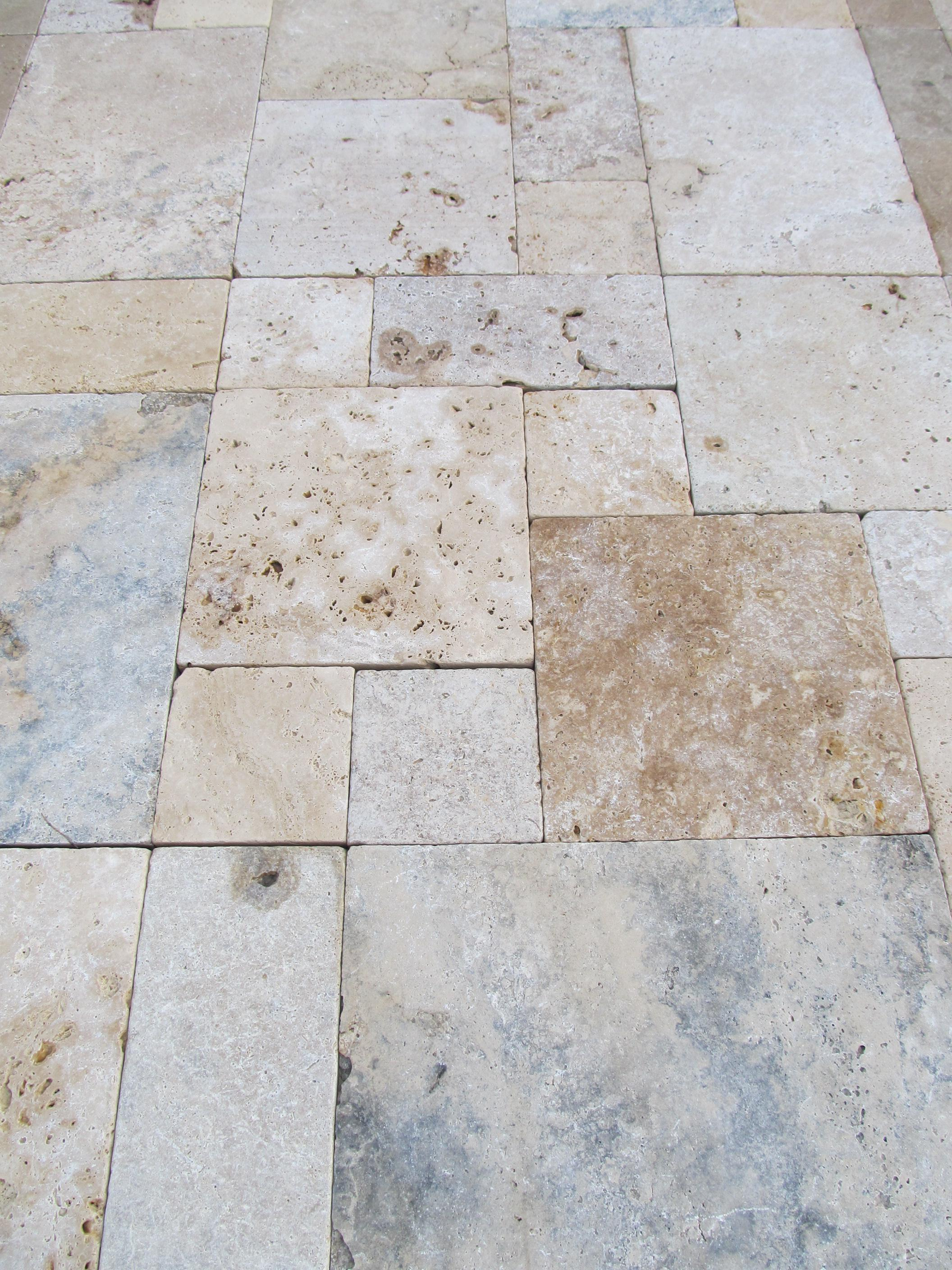 Image of: Travertine Pavers Colors