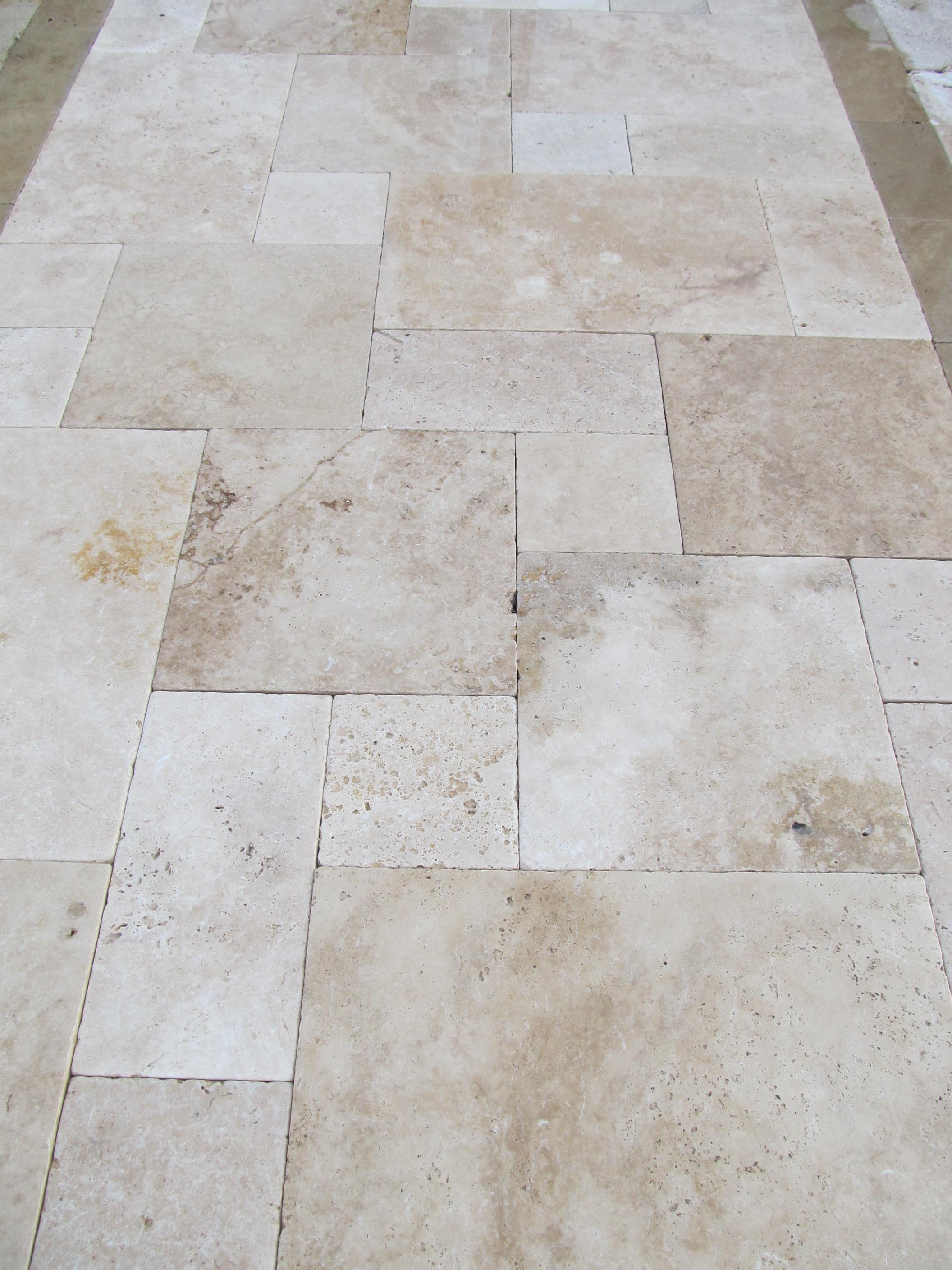 Image of: Travertine Pavers French Pattern