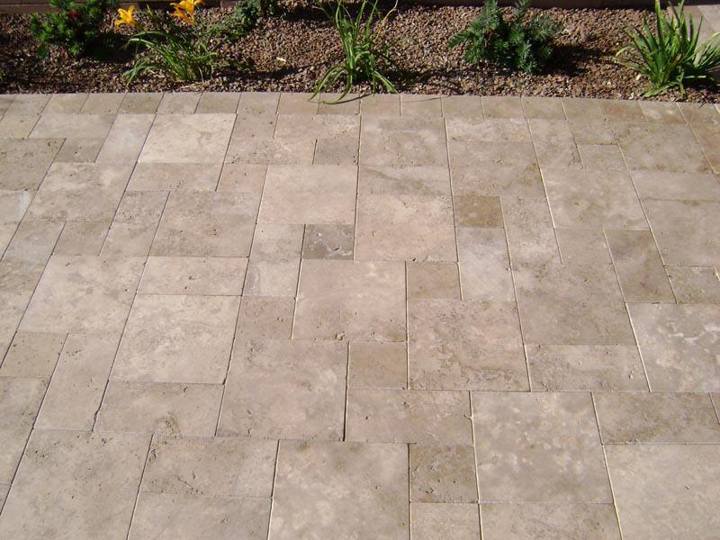 Image of: Travertine Pavers Installation