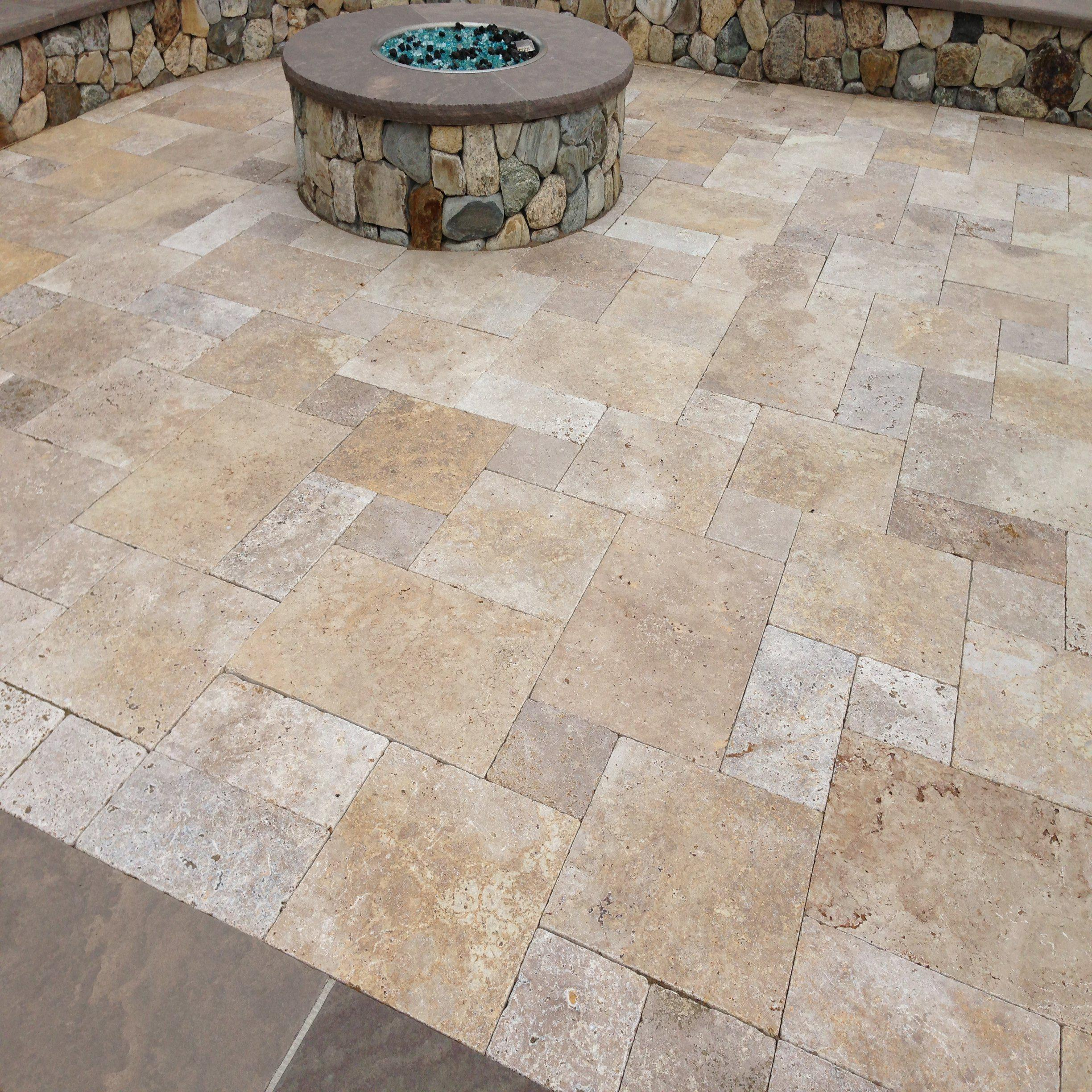 Travertine Pavers Lowes Oz Visuals Design Nice
