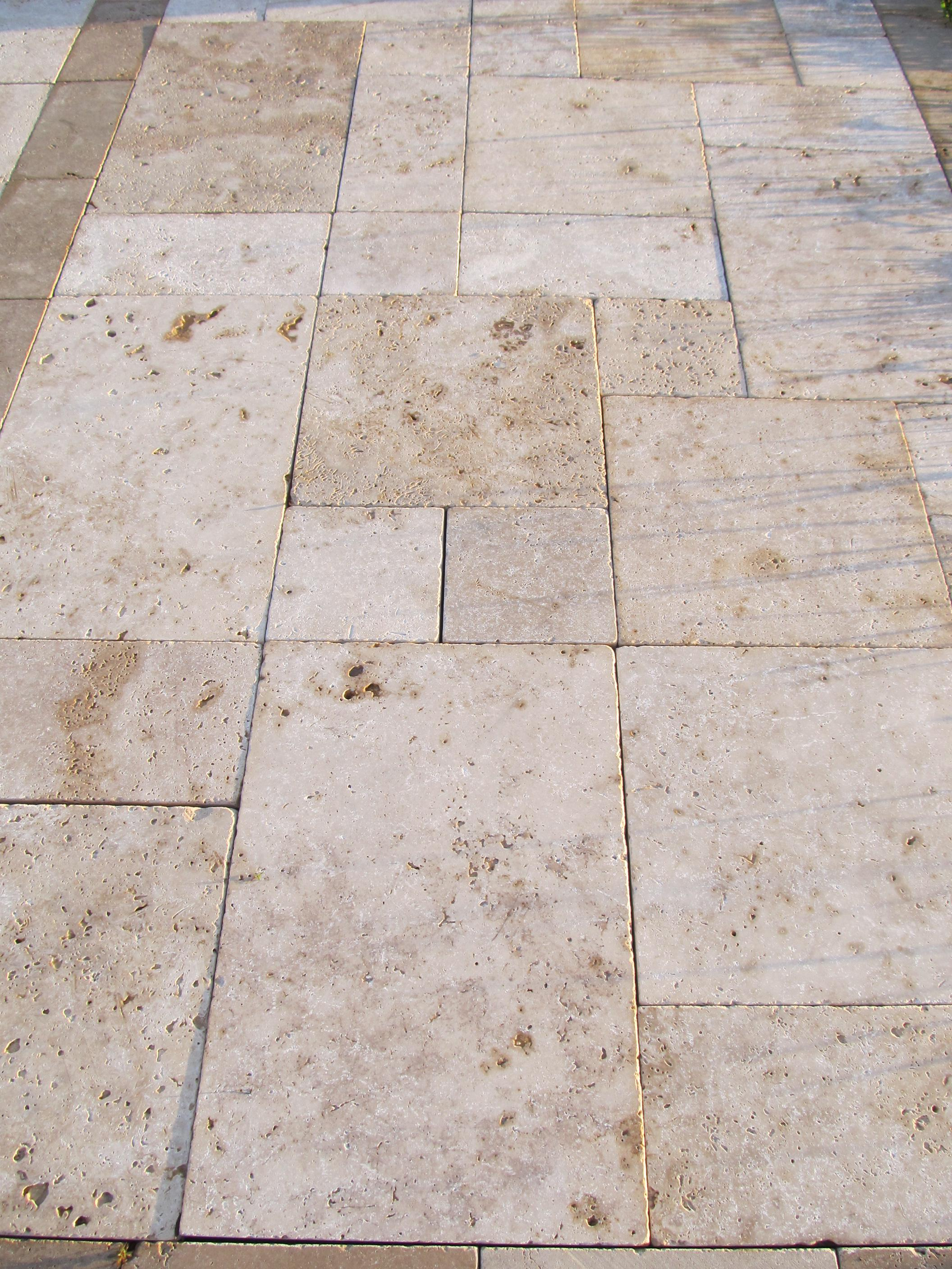 Image of: Travertine Pavers Over Concrete