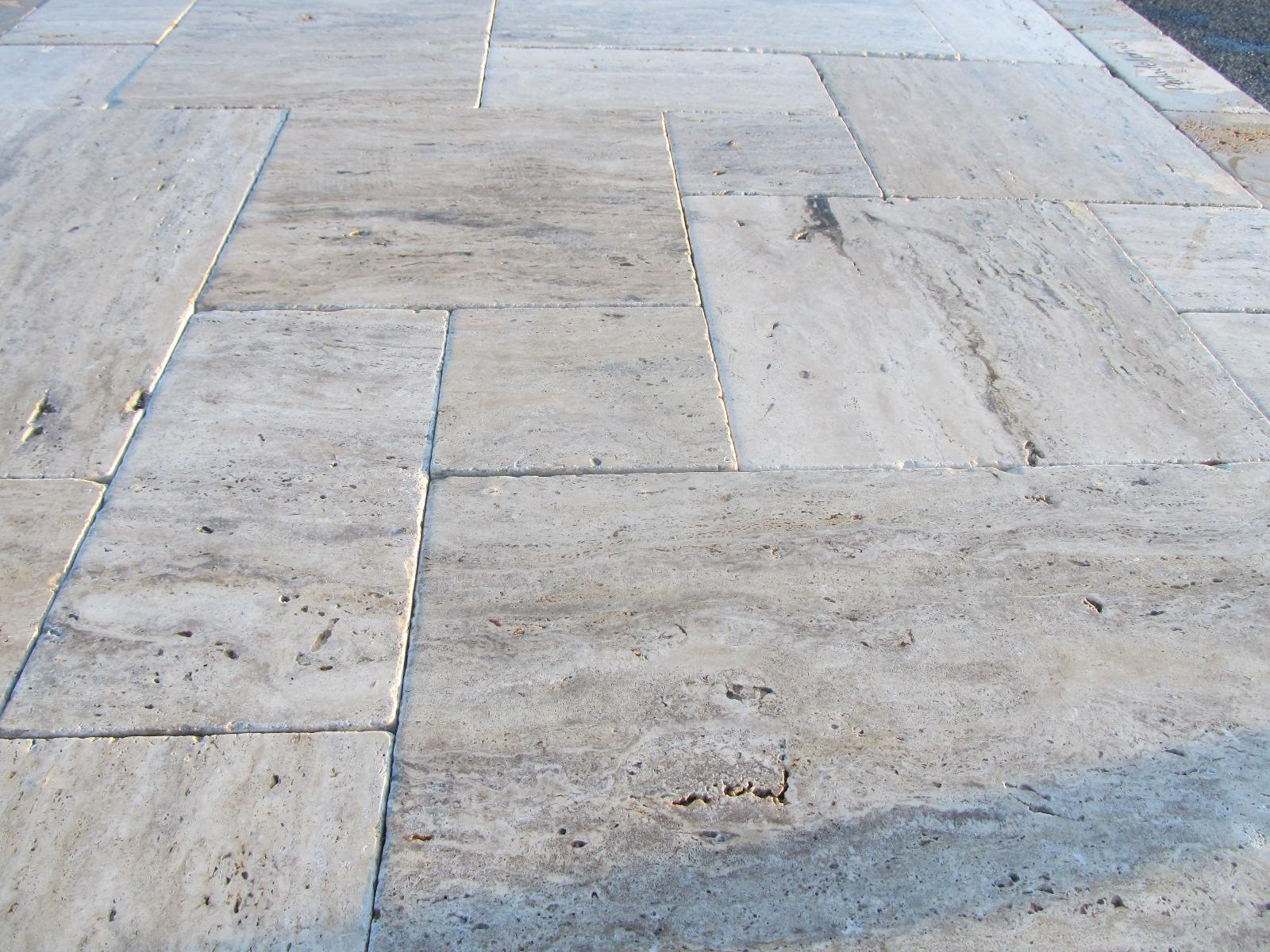 Image of: Travertine Pavers Patterns