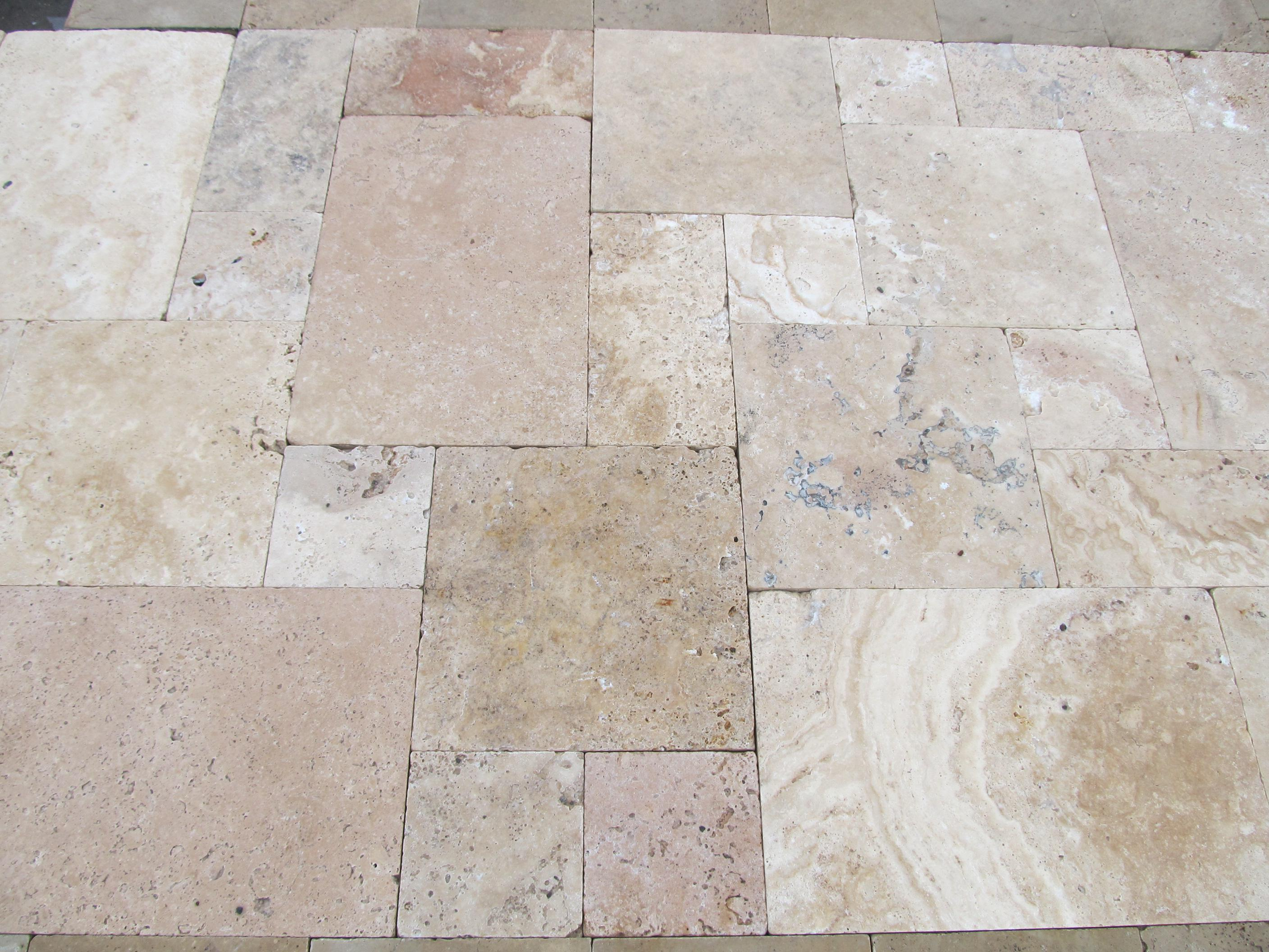 Image of: Travertine Pavers Pool