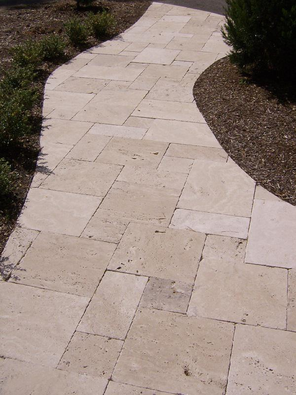 Image of: Travertine Stone Pavers