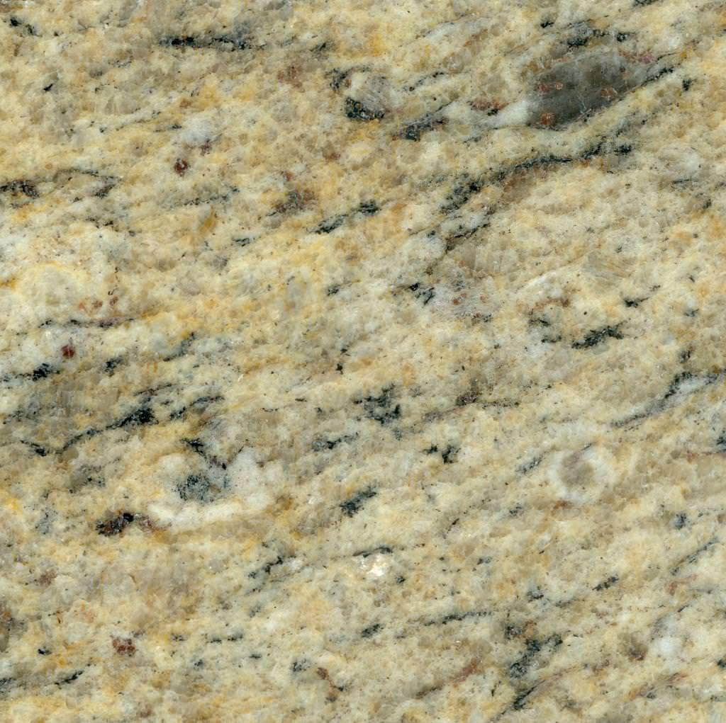 Image of: Cheap Venetian Gold Granite Countertops And Tile Backsplash