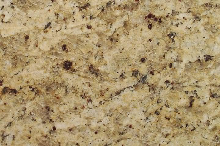 Image of: Cheapest Venetian Gold Granite Countertops With White Cabinets