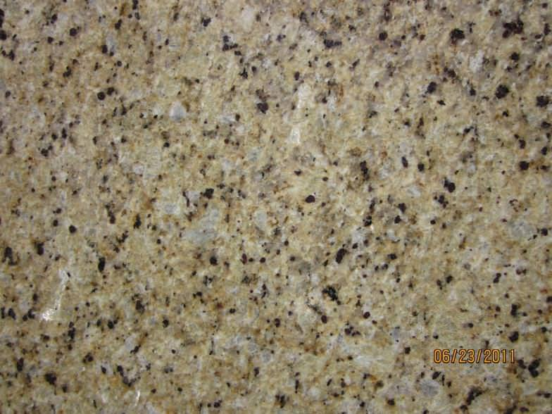 Image of: Small Venetian Gold Granite Kitchen