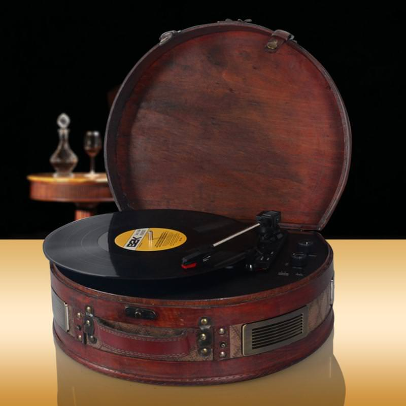 Image of: Vintage Record Player Austin