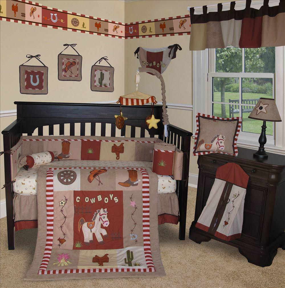 Image of: Wild West Crib Bedding