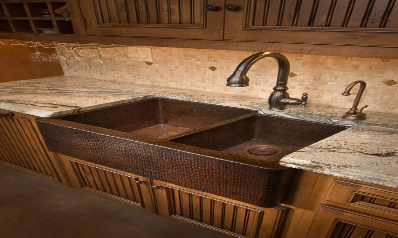 Image of: Copper Farmhouse Sink Home Depot