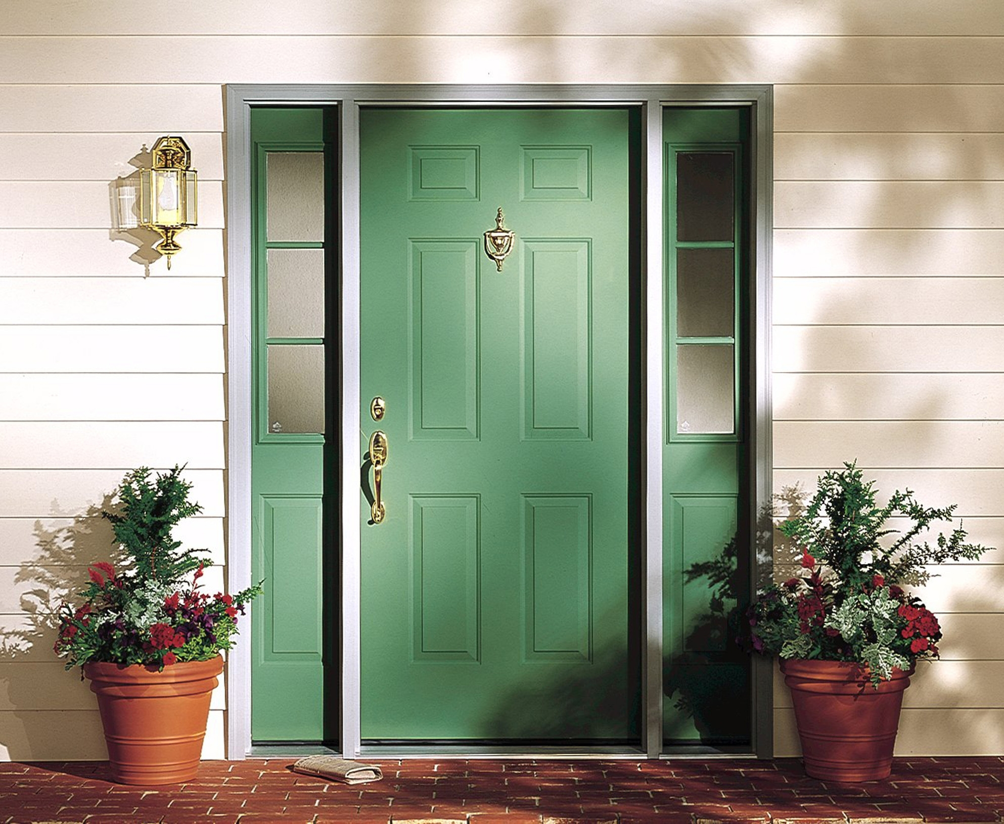Picture of: Front Door With Sidelights Home Depot
