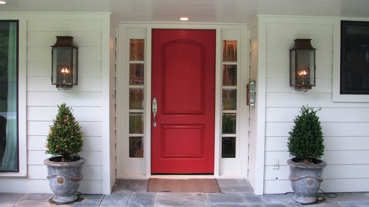 Picture of: Front Door With Sidelights Rough Opening