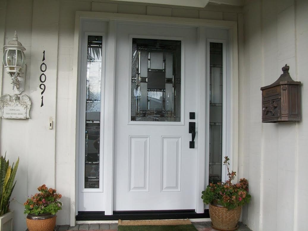 Picture of: Always Trend Front Door With Sidelights White