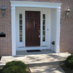Front Door With Sidelights White