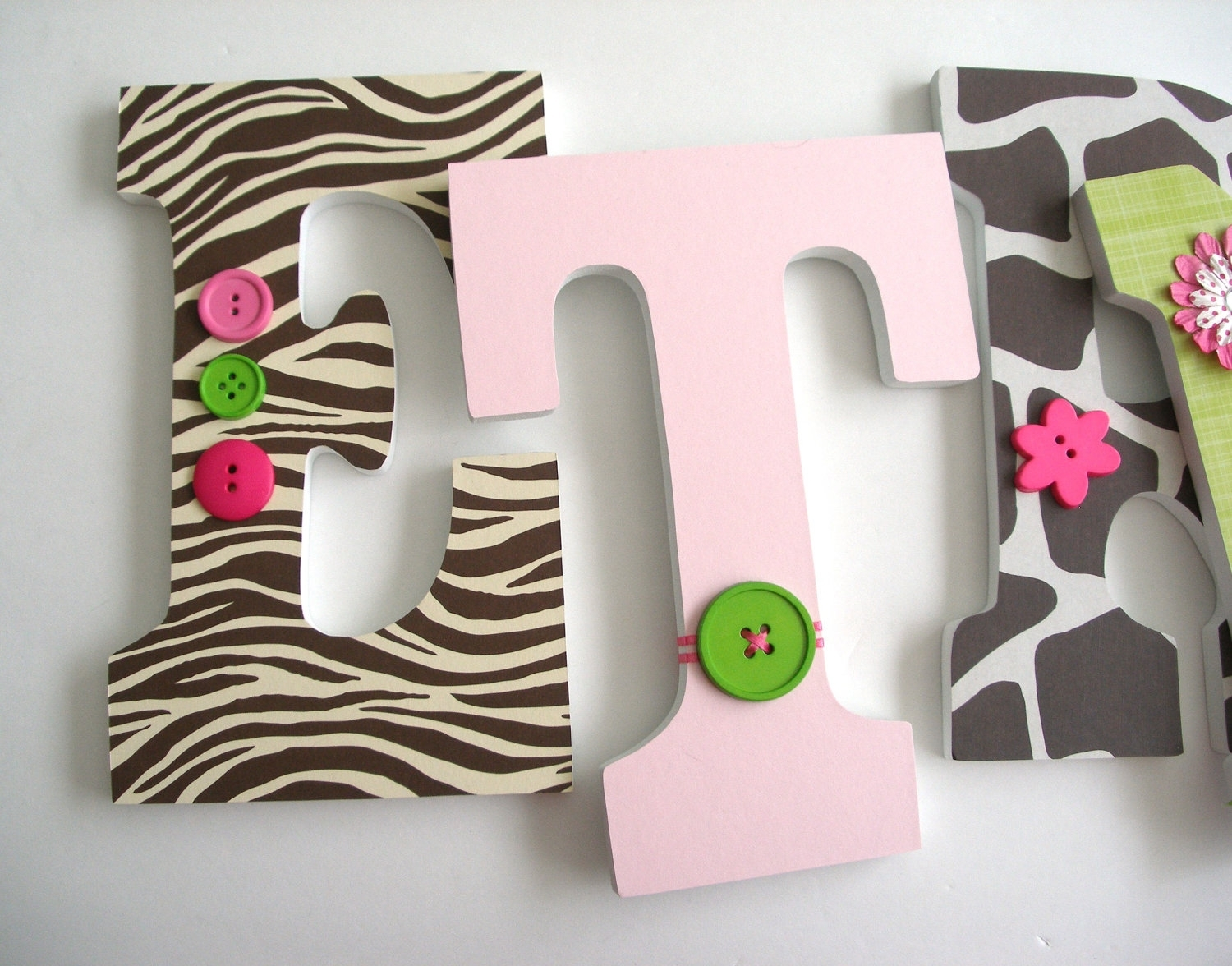 Picture of: Jungle Jill Nursery Letters