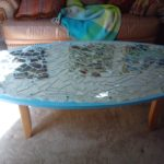 Mirrored Coffee Table And End Tables