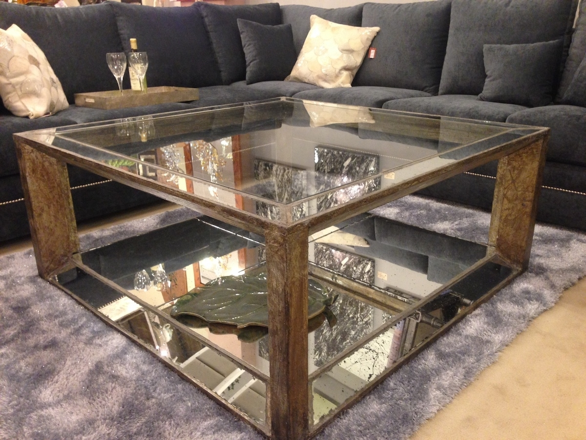 Image of: Mirrored Coffee Table And Side Tables
