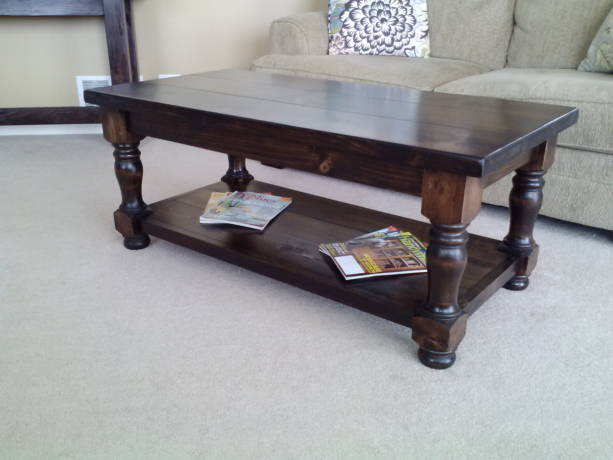 Mirrored Coffee Table Square