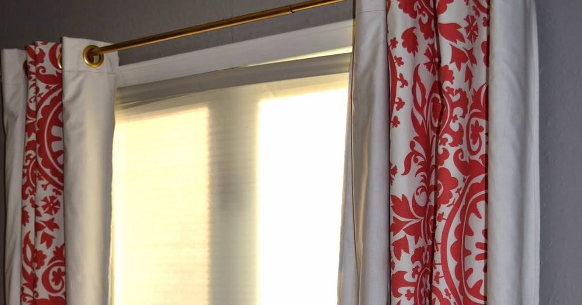 Image of: Red White Elegant Nursery Curtains