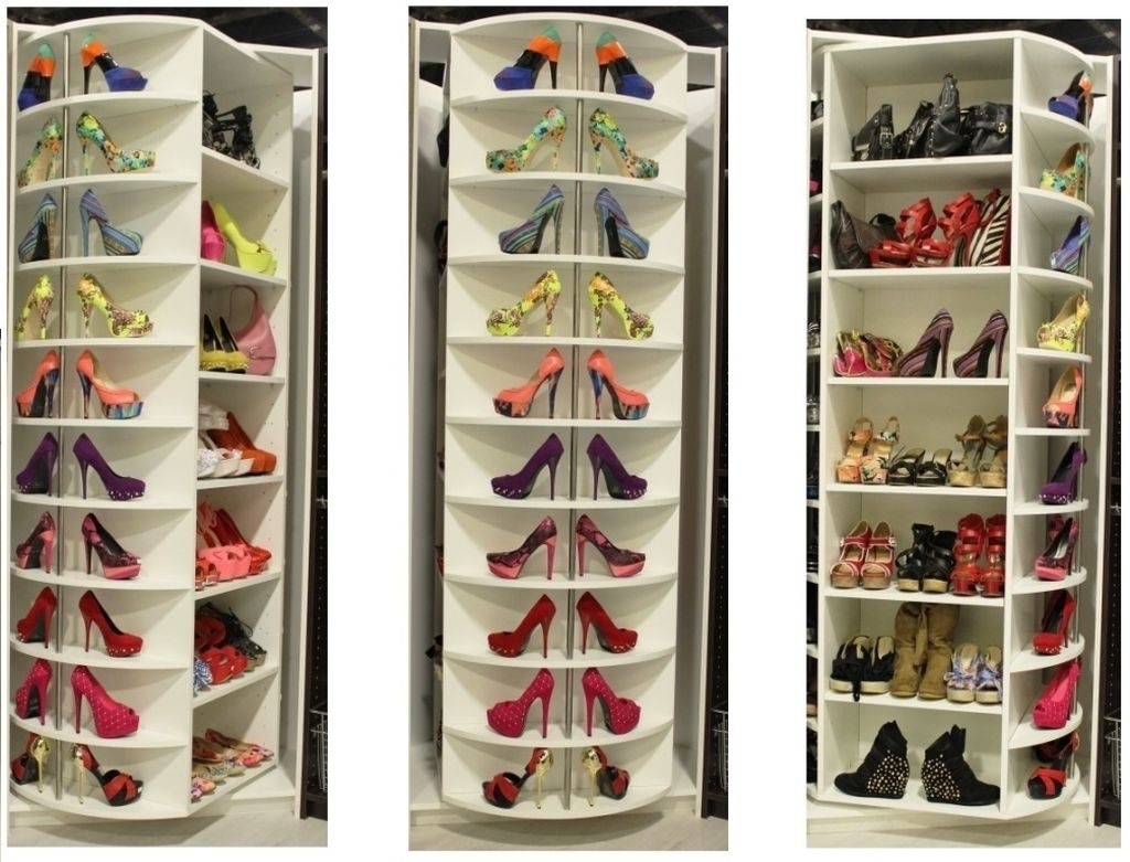 Image of: Rotating Shoe Rack Buy