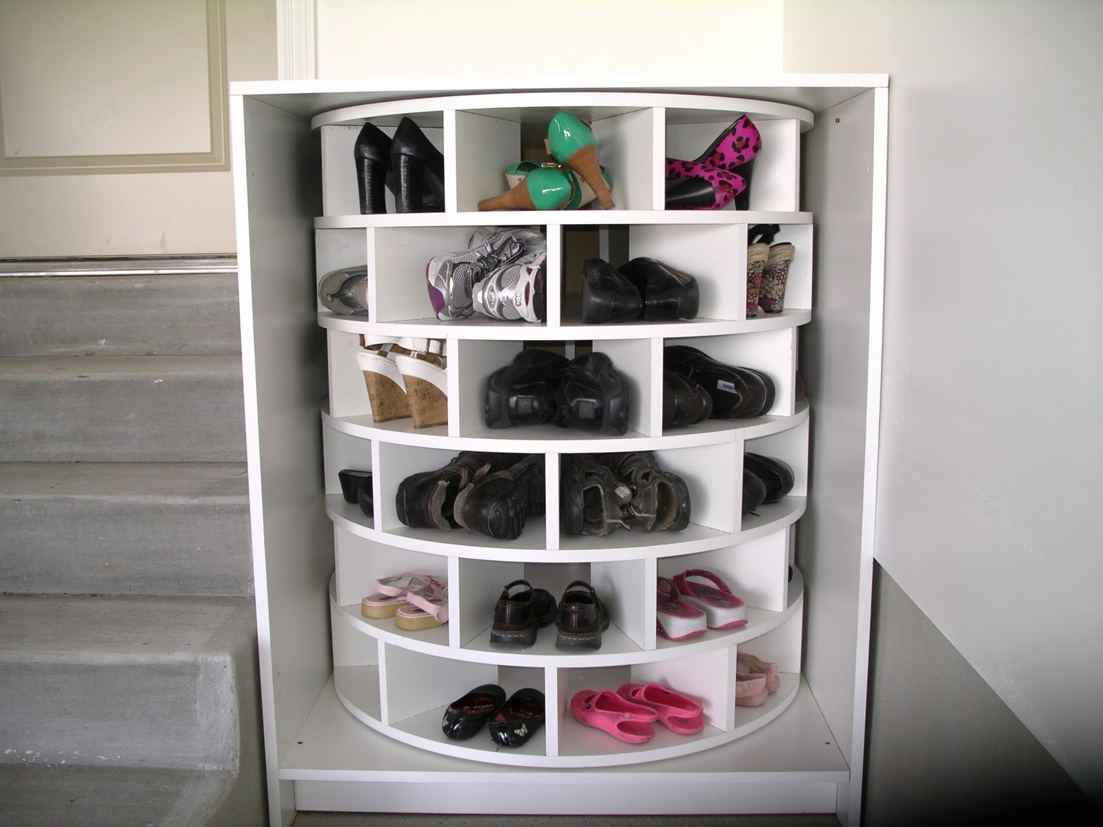 Picture of: Rotating Shoe Rack Uk