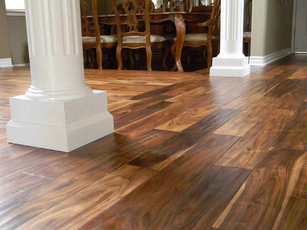 Image of: Acacia Hardwood Flooring Hand Scraped