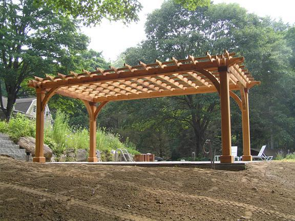 Picture of: Amish Cedar Pergola Kits