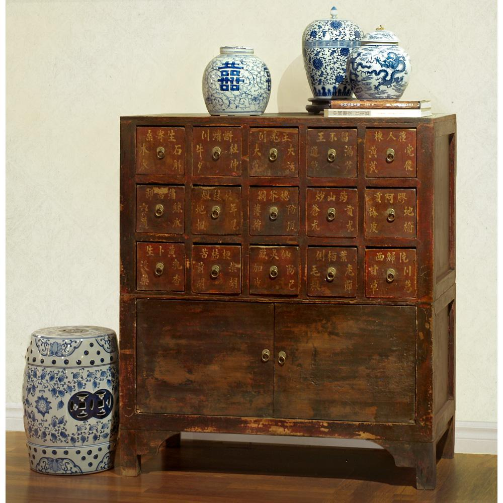 Image of: Apothecary Chest Antique