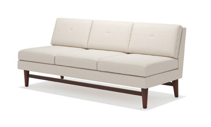 Armless Loveseat Leather