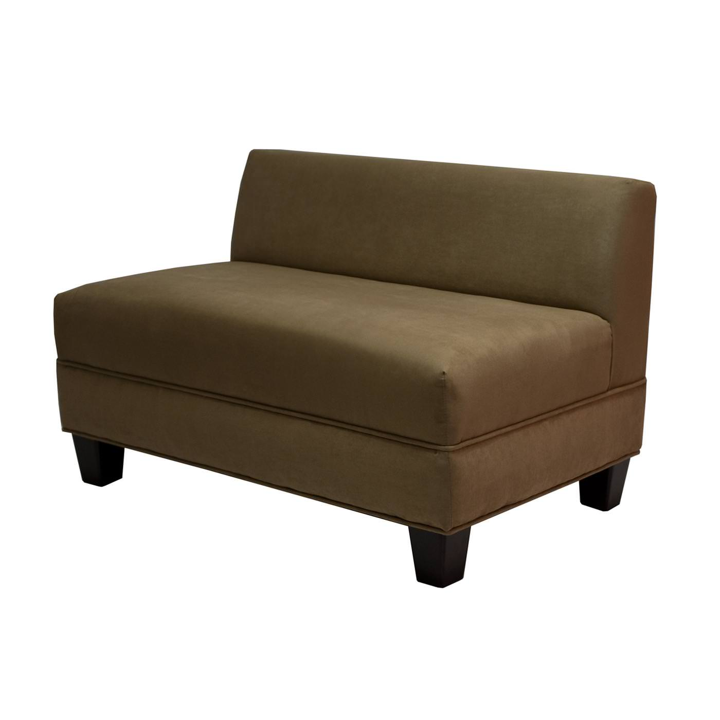 Armless Tufted Loveseat