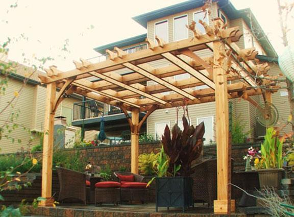 Picture of: Attached Cedar Pergola Kits
