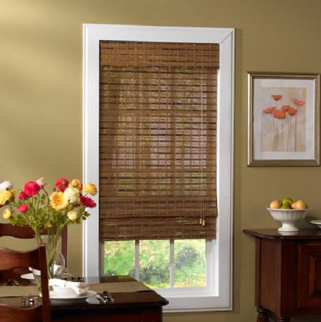 Image of: Bamboo Roll Up Blinds