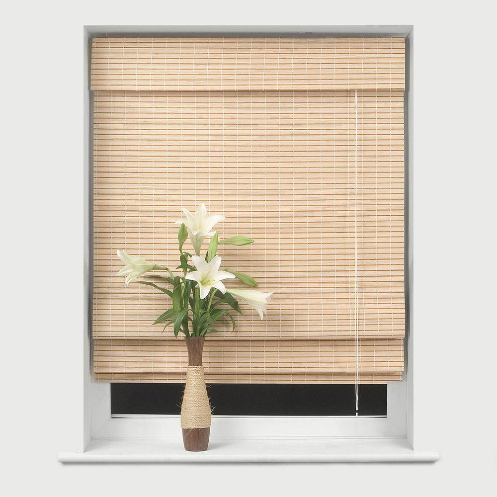 Image of: Bamboo Roman Shades For French Doors