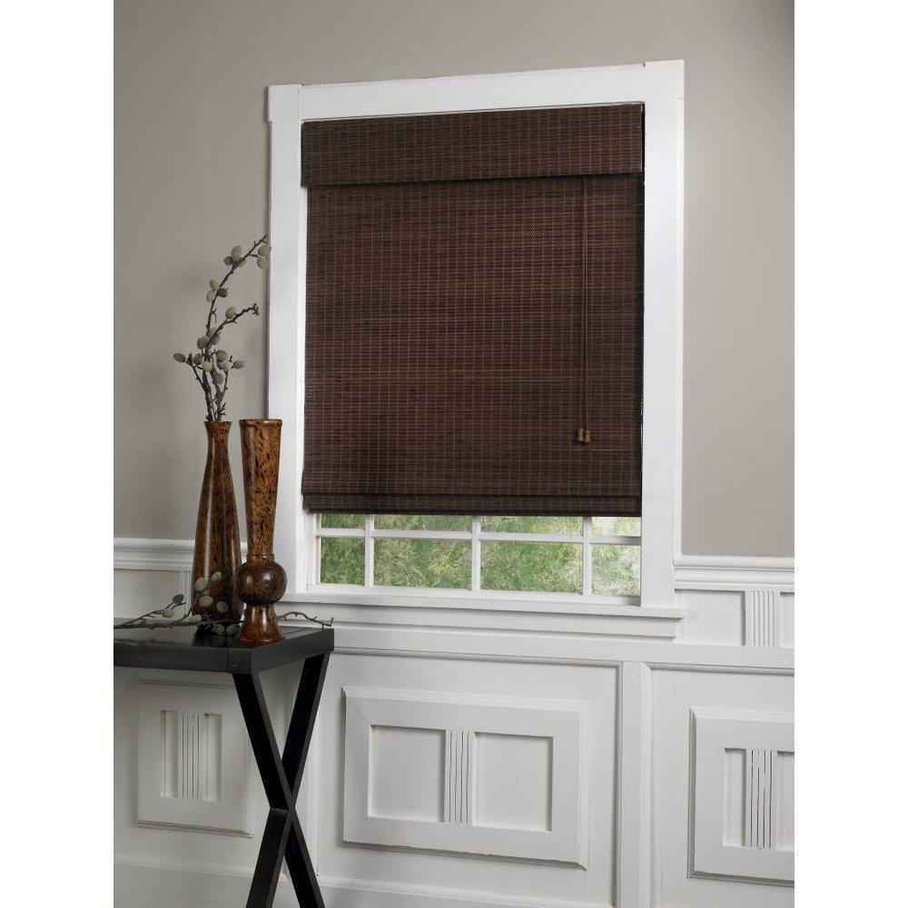 Image of: Bamboo Roman Shades For Sliding Glass Doors