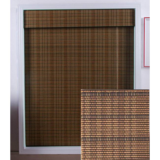 Image of: Bamboo Roman Shades With Blackout Liner