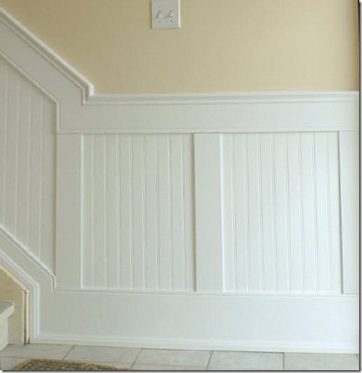 Picture of: Beadboard Paneling Over Tile