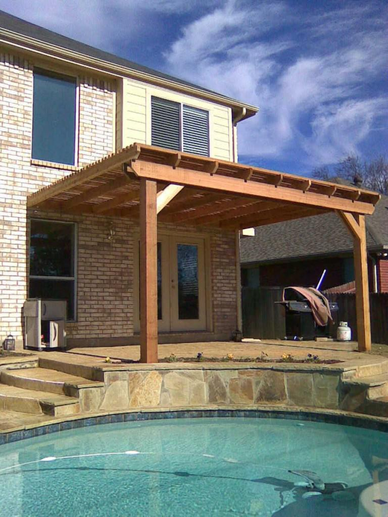 Picture of: Cedar Arched Pergola
