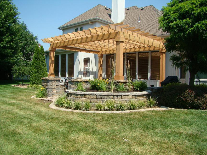 Picture of: Cedar Attached Pergola
