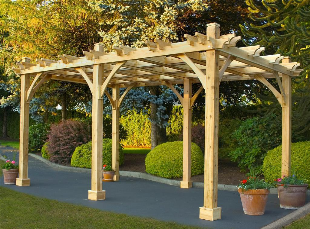 Picture of: Cedar Pergola Costco