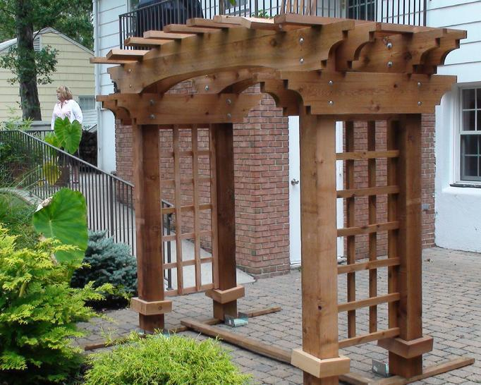 Picture of: Cedar Pergola Ideas