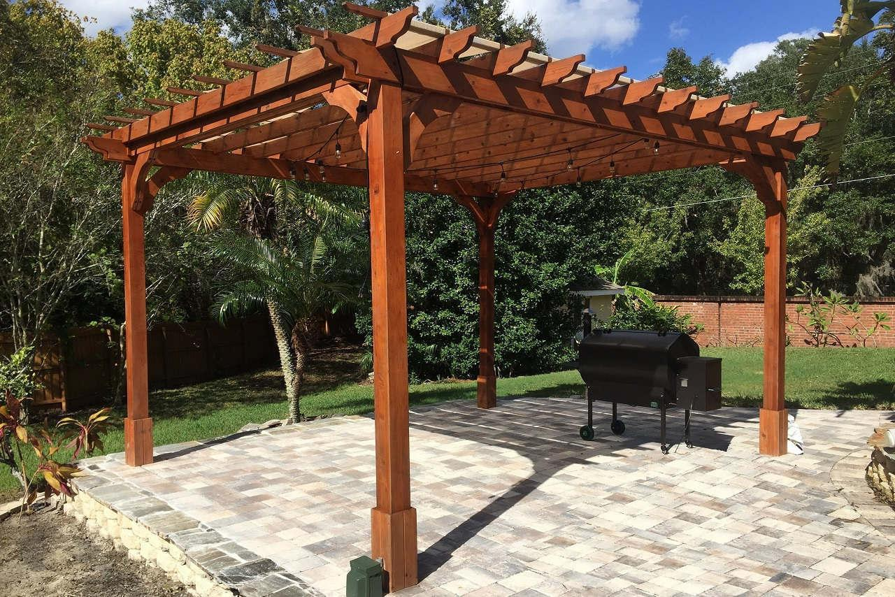 Picture of: Cedar Pergola Lowes