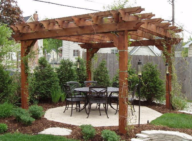 Image of: Cedar Pergola Pictures