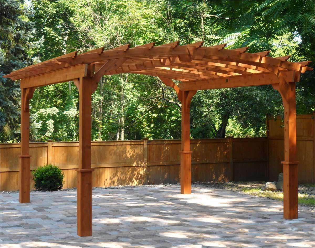 Picture of: Cedar Pergola Posts
