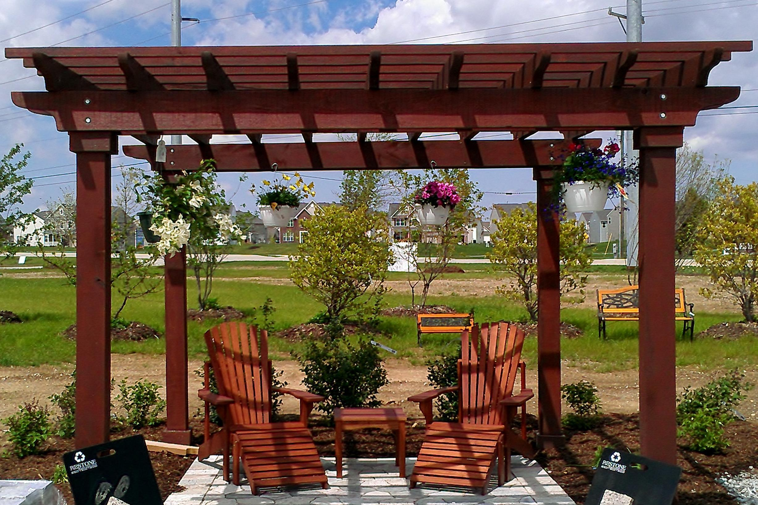 Picture of: Cedar Pergola With Aluminum Roof