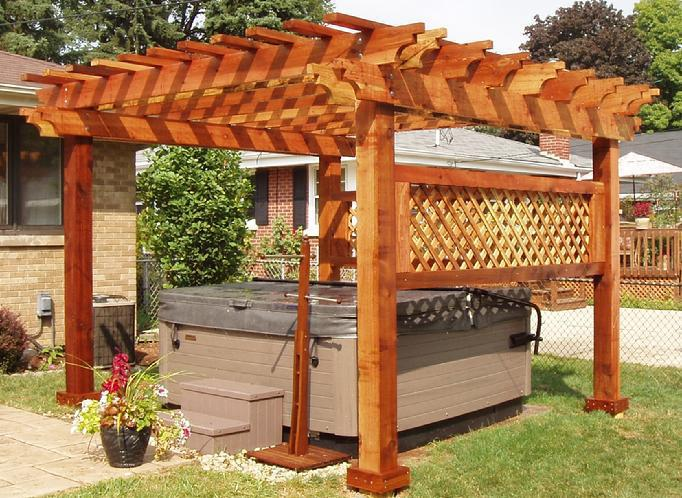 Picture of: Cedar Pergola With Canopy