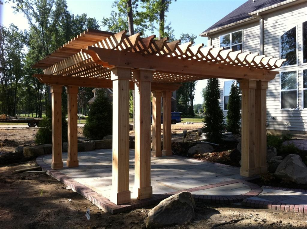 Picture of: Cedar Pergola Wood