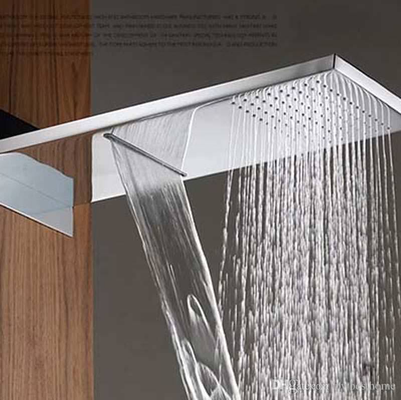 Image of: Ceiling Mounted Waterfall Shower Head