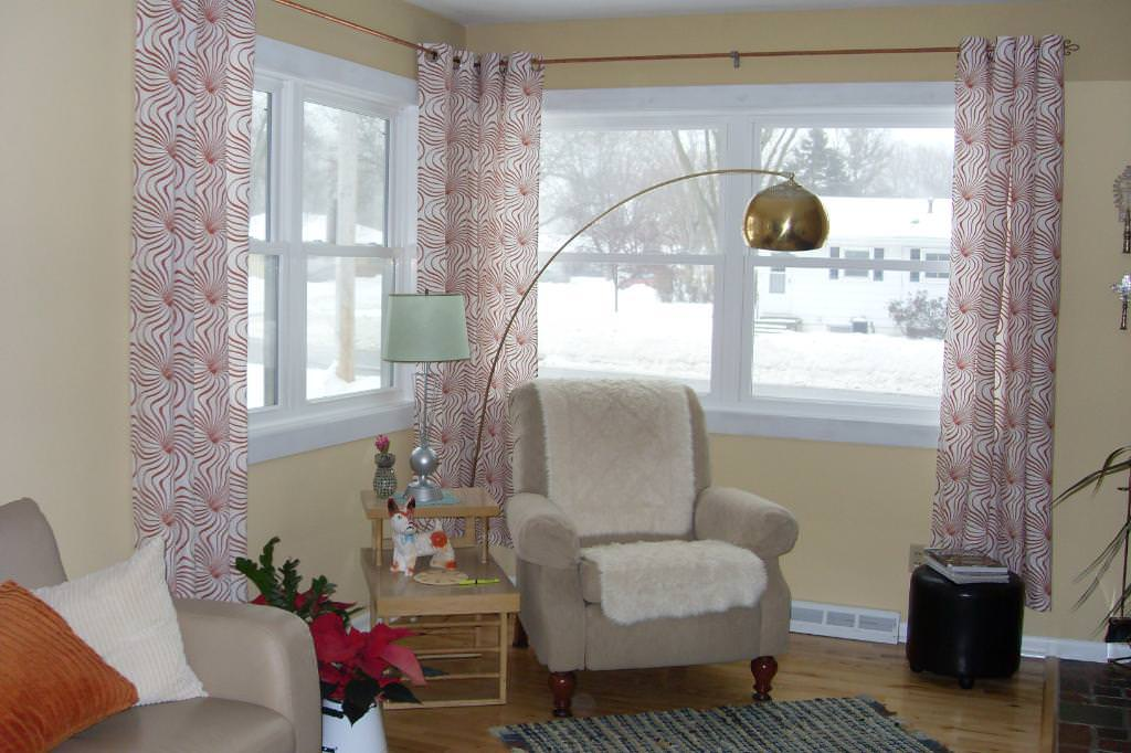Image of: Corner Window Curtain Rods Home Depot