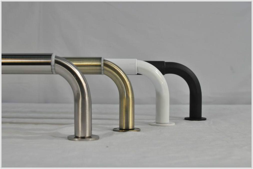 Image of: Curved Corner Curtain Rod